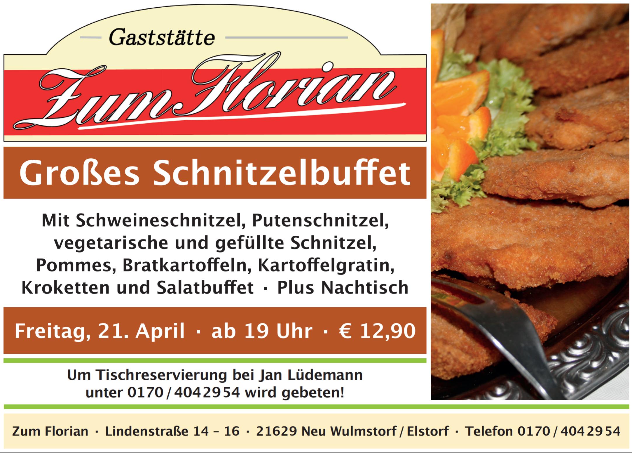 Schnitzelbuffet im April